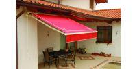 Hülsenmarkise-Terrasse-Rot